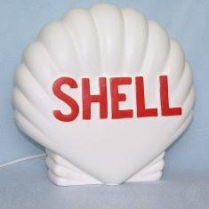 Werbeschild Leuchte Shell Muschel