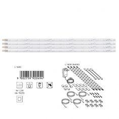 2er-Set LED-Leuchtband in neutralweiß 40 cm -  inklusive 4x 15 LEDs