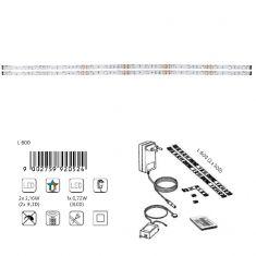 2er-Set LED-Lichtstreifen mit Farbwechsel - inklusive 9 LED pro Streifen und Fernbedienung - 2x 30 cm