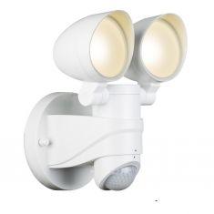 2fach LED Wandspot mit Bewegungsmelder, schwenkbare Spots