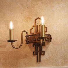 2-flammige Wandleuchte - handgefertigt - romantische Schmiedekunst