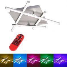 30W, 1200 Lumen LED Deckenleuchte Lola Simon mit RGB CCT Fernbedienung 1x 30 Watt, 71,00 cm, 71,00 cm