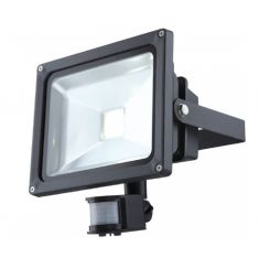 30Watt LED-Flutlichtstrahler mit Bewegungsmelder, IP44