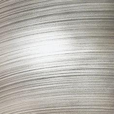 Wandleuchte mit Glas in Aluminium-Optik aluminiumfarben