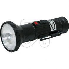 Halogen-Stahlblech-Taschenlampe mit Schiebeschalter, Lampe E10 inkl. Morse und Dauerlicht-Schalter, einstellbarer Focus