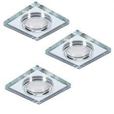 3er Deckeneinbauleuchte LED-Hintergrundbeleuchtung eckig