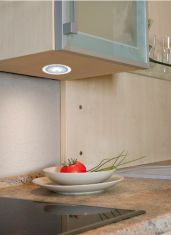 3er Set LED-Einbauleuchte in Chrom-matt mit klarem Acrylrand