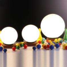 3er-Set Kugelleuchten 2x 25 cm und 1x 40 cm, mit 6W LED
