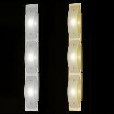 3x4 Watt Power LED-Wandleuchte mit Schalter in Chrom glänzend oder Messing poliert