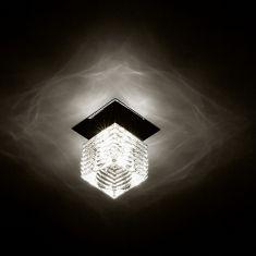 4,5Watt,LED-Einbauleuchte, Stahl, chrom / Glas, klar