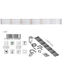 4er-Set LED-Lichtstreifen mit Farbwechsel - inklusive 18 LED pro Streifen und Fernbedienung - 4x 60 cm