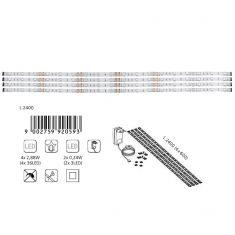4er-Set LED-Lichtstreifen in neutralweiß - inklusive 36 LED pro Streifen und Fernbedienung - 4x 60 cm