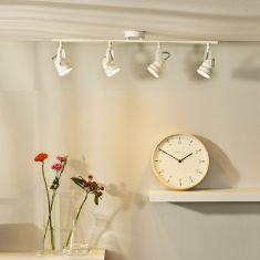 4-flammiger LED Deckenstrahler Cigal von Lucide in altweiß oder kupfer