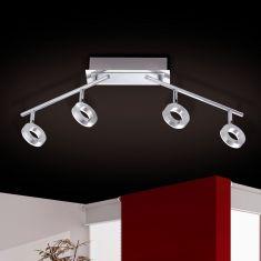 4-flg LED-Deckenstrahler Sileda