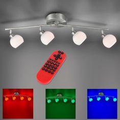 4fl.LED Deckenbalken Lola Lotta mit RGB,CCT und Fernbedienung