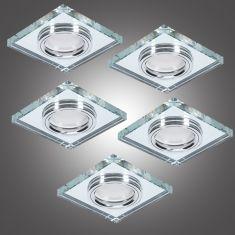 5er Deckeneinbauleuchte LED-Hintergrundbeleuchtung eckig