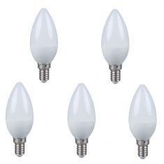 5er Set LED Kerze E14 3,5W opal 2700K nicht dimmbar