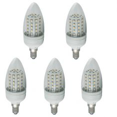 5er Set LED Leuchtmittel Kerze 3 Watt  klar 240lm