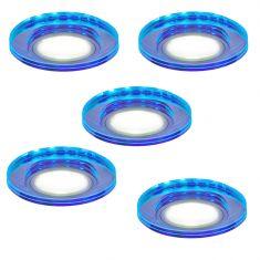 5-er Set je 7W Einbauspot LED-Deckeneinbauleuchte