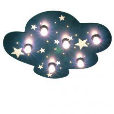 Kinder-Deckenleuchte Wolke - mit fluoreszierenden Sternen