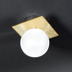 Elegante Kugelleuchte mit Goldschimmer gold/weiß