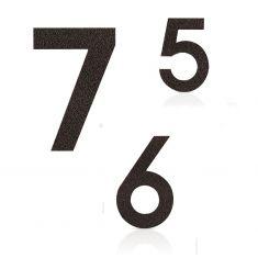 Hausnummer in Mokkabraun, pulverbeschichteter Edelstahl, Höhe 12cm, Nummer 2 Hausnummer 2