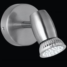 Schlichter LED Spot   Nickel matt
