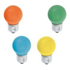 D45  E27 Tropfenlampe  15W  in verschiedenen Farben