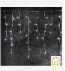 LED Lichterkette Eisregen, System für Innen und Außen, 100 LED warmweiß