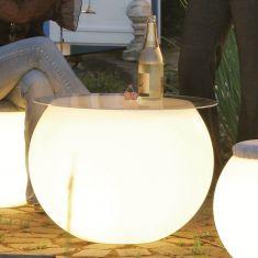 Tischplatte aus klarem Plexiglas für Pflanzgefäß Flora in 50cm oder 65cm Durchmesser