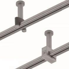 Magnetline Abhängung Overline 5cm aus Kunststoff oder Metall  in silber matt oder chrom