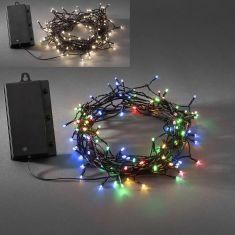 LED - Globelichterkette - 240 Dioden - Für den Außenbereich - Batteriebetrieben - Mit Lichtsensor und 6h bzw. 9h Timer - 2 Farben