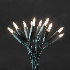 LED-Minilichterkette für den Innenbereich - 10 LED-Dioden - 230 V - Grünes Kabel - warmweiss warmweiß