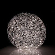 LED-Kugelleuchte Aluminiumgeflecht Ø 41,2 cm 100x 0,05 Watt, LED kaltweiß, 41,20 cm