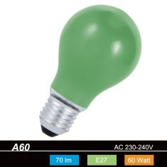 A60 AGL 60 W  E27 Classic A  in Grün 1x 60 Watt, grün, 70,0 Lumen