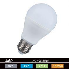 A60 AGL LED  E27 6,5 Watt  2700K  230V  470lm 160° nicht dimmbar