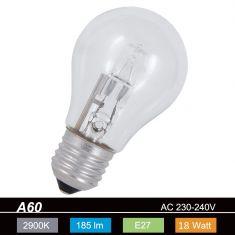 A60 E27 Halogen -  18 Watt ~ wie  22 Watt 1x 18 Watt, 18 Watt, 22,00 Watt, 185,0 Lumen