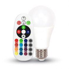 A60 E27 LED-Leuchtmittel 6W RGB mit Fernbedienung