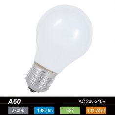 A60  E27 Leuchtmittel opal -100Watt - stoßfeste Version