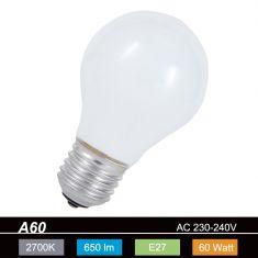A60  E27 Leuchtmittel opal - 60Watt - 1x 60 Watt, 60 Watt, 650,0 Lumen