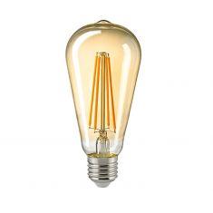 A65 LED Rustikalampe Filament Gold E27 2400K dimmbar 4,5 Watt