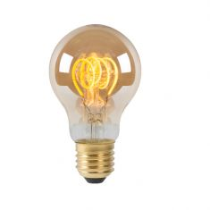 Amberfarbene E 27 LED - Glühfadenlampe  Dimmbar