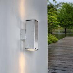 Up and down LED-Wandleuchte Aluminium gebürstet  inklusive Leuchtmittel