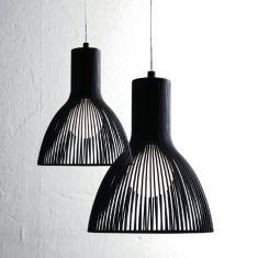 Aparte Pendelleuchte in schwarz in Ø 17 cm oder Ø 26 cm