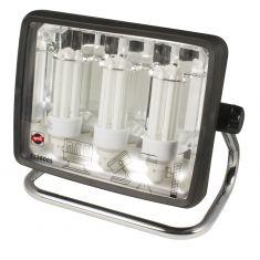 Arbeitsstrahler mit Energiesparlampen und Steckdosen 3600 Lumen