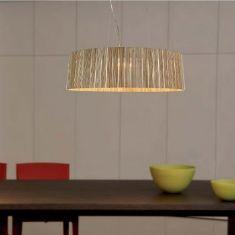 Pendelleuchte Shio Ø49cm - Holz gelb - nicht dimmbar gelb, keine Angabe