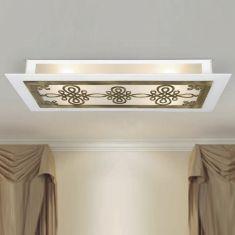 Attraktive LED-Deckenleuchte mit  Metall-Ornamentik - 4 Farben