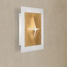 Attraktive LED-Wandleuchte mit hohem Lichtoutput - 32 Watt, Gold oder Silber