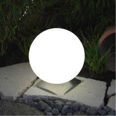 Außenkugel Snowball in 4 Größen mit Edelstahlfuß