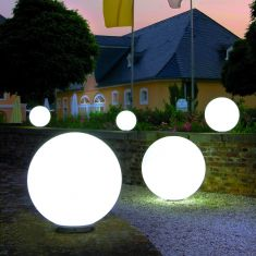 Außenkugel Snowball ortsfest in 6 Größen, 5m Zuleitung